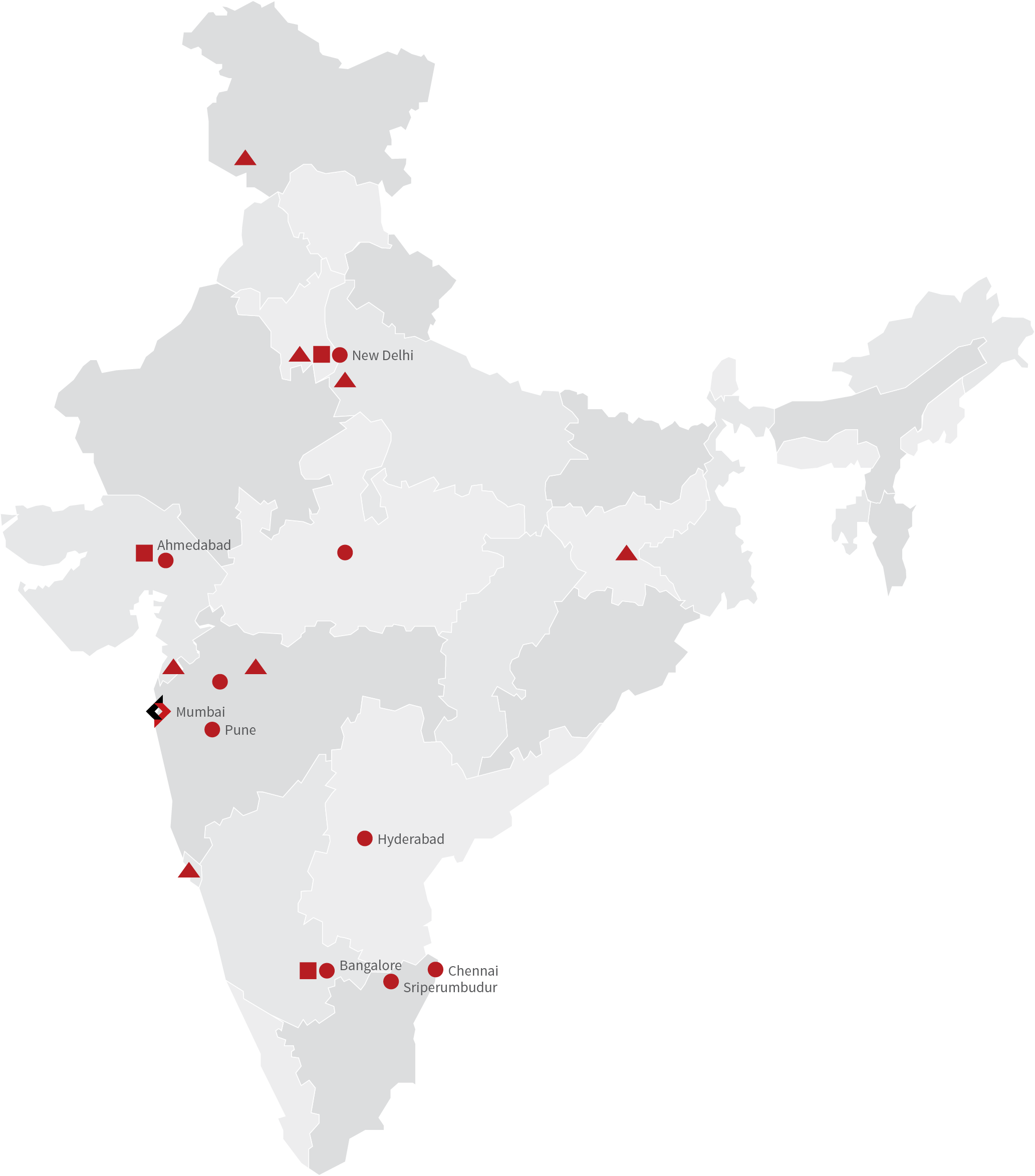 Our Pan India Presence